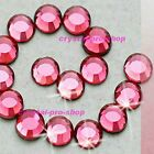 Pink Rose Iron On Hot fix Rhinestones Craft Crystals Hotfix Bead 2mm 3mm 4mm 5mm