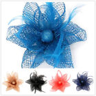 HF007 1pc Flax Feather Flower Multipurpose Hairpin Brooch Hair Clip