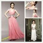 The New Women Lady's V-neck Pary Long Dresses Classic Rhinestone Dress