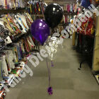 Birthday Party Helium Balloon Cluster DIY Kit - Black & Purple Age 18 21 30