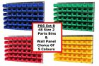 NEW UK Made Plastic Parts Storage Bins Boxes With Steel Wall Lovre Panel - SET 8