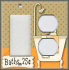 Metal Light Switch Plate Cover - Country Bathroom - Beige - Bathroom Home Decor
