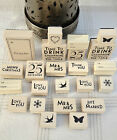 EAST OF INDIA RUBBER STAMPS WEDDING CHRISTMAS CRAFT CARD GIFT TAGS WRAPPING