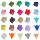 "5 Satin Table Napkin or Handkerchief 12"" Square Multi Purpose Decor Colors Hot"