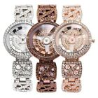 Crystal Rotating Dial 3 Colors Mother of Pearl Ladies Bracelet Quartz Watch Gift