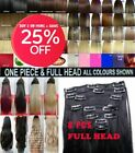 Hair Extensions streak highlight ash Clip in Hair Full Head - 1 Piece Brown Red