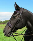 FSS Patent GLOSS Comfort Poll Show WORKER HUNTER Hunt FLAT 4cm Caveson Bridle