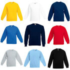 Kids Fruit Of The Loom Regular Sweatshirt Fleece Red Blue Black White Yellow....
