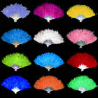 13 Colors New Costume Wedding Showgirl Dance Folding Hand Feather Fan Fancy