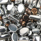 Beautiful Silver and Copper Coated Glass Bead Mix for Jewellery Making - 50g