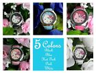 "#450 Hello Kitty w/Pink Bow Wristwatches w/Faux Leather Band ""Pick A Color"""