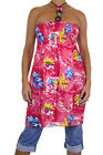 NEW (3973-1) Floral Tunic Dress Top Beaded Detail Pink One Size to fit 8-16