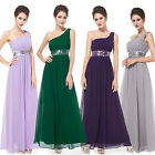 Black One Shoulder Sequins Maxi Long Evening Party Dress Formal Prom Gown 09770