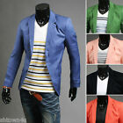 Two single-breasted men's leisure suit jacket bright