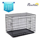 "PawHut Pet Cage Crates 2 Doors Folding Playpen Dog Pen Wire Cage 48"" 42"" 36"" 30"""