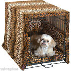 Pet Dreams Cratewear Designer Leopard 3-Piece Bedding & Crate Cover Dog Bed