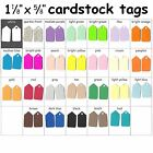 100 Color Cardstock Tags Jewelry Necklace Ring Charm Craft Sale Consignment Tag