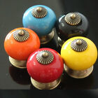 1/10pcs Europe Ceramic Door Drawer Cabinet Cupboard Kitchen Pull Handle Knob