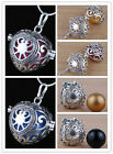 925 Sterling Silver Heart Harmony Ball Chime Round Ball Pendant Maternity H29