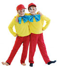 ALICE IN WONDERLAND Tweedle Dee &Tweedle Dum  Fancy Dress Costumes Set  ALL AGES