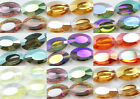 Free 10pcs Glass Crystal Facet Clear AB Jewelry Charm Finding 22mm Spacer Bead