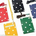 Dot Cute Strap ID Card Case Pocket Credit Single Business Holder Korean Fashion