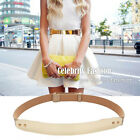 blt2 Celeb Style Red-carpet Gold Metallic Mirror Shiny Plate Metal Waist Belt