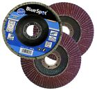 FLAP DISCS 115mm SANDING 40 60 80 120 GRIT GRINDING WHEELS BLUE SPOT 4.5""