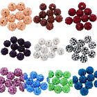 10 Perle Perline Sfera in Argilla con Strass 10mm Dia M1118