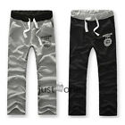 Cool Fashion Men Casual Sports Pants Jogging Printed Long Trousers Cotton Blend