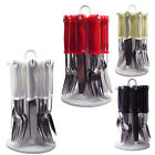 NEW 24PC CUTLERY FORKS TEASPOONS TEA SPOONS METAL DRAINER DINNER SET RACK STAND