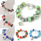 1PC Retro Murano Lampwork Glass Czech Crystal European Beads Charm Bracelet Gift