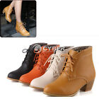 Fashion Women Thick Heel Lace up hot Short Boots Ankle Boots Shoes 4 Colors DZ88