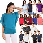 Womens Dolman Top Batwing Shortsleeve Blouse Undershirt Set T Shirt Party AU