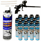 Expanding Mega Foam Kit Including 1 x Heavy Duty Gun, 1 x Cleaner & 750ml Cans