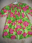 Внешний вид -  FLOWER CHRISTMAS PRINT LONG SLEEVE BISHOP DRESS SIZES 6MOS TO 12 month