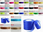 wedding festival 50yards 10/12/20/25/30/40mm Organza Ribbon 30 kinds of colors