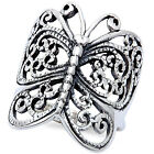 ANTIQUE FILIGREE STYLE BUTTERFLY 925 Sterling Silver Ring SIZES 4 13