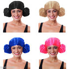 PRINCESS BUNCHES HAIR BUN STYLE UNISEX FANCY DRESS COSTUME ACCESSORY PARTY WIG