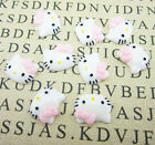 12pcs Cute Resin HELLO KITTY pink Bow flatback Scrapbooking For phone /craft DIY