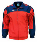 Adidas Men's 3S Essentials Warm Up Training Tracksuit Top Jacket red / navy 1924