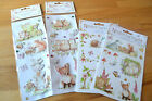 Woodland Friends Animal Stickers 3D & glittered crafts cards scrapbooking