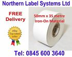 50mm wide Iron-On Nametag Material (35 metre continuous strip) for Label Printer