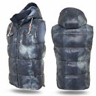 URBAN CLASSICS   HOODED BUBBLE DENIM LOOK VEST WESTE JACKE KAPUZE S-XXL