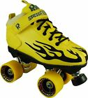 Yellow Sure Grip Rock Flame Speed Freak Roller Skate With Cosmic Fly Wheels 1-13