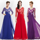 Ever Pretty Lace 3/4 Sleeve Long Evening Prom Dress 09053 Size 8 10 12 14 16 18