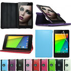Google Nexus 7 2 (2013 /2nd Gen) 360 Rotating Leather Flip Case Cover Stand