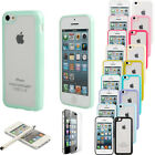 Touch Pen+PC TPU Frosted Transparent Bottom Case for iPhone 5C+Screen Protector