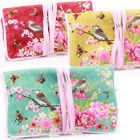 *JAPANESE BIRD* JEWELLERY ROLL Women Accessory Floral Bag Case Travel Pouch Gift