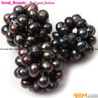 Fashion pretty 18-20mm round handmade intertexture freshwater pearl ball 1 Piece